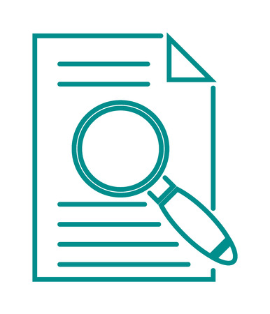 magnification icon: Search icon find zoom and search icon optical tool. Find search icon magnification and file searching icon. Search in file sign icon find document symbol magnifying glass vector illustration.