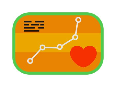 heartbeat line: Heartbeat icon sport ecg concept load level vector. Form of heart and heartbeat with flat design element. Modern style sport ecg and load level sport with ecg line. Sports ecg badge heart level map. Illustration