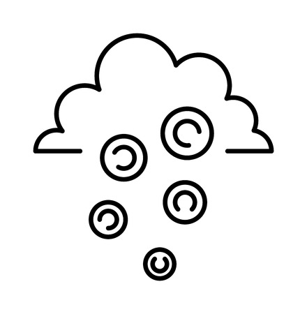 money rain: Money rain sign line icon and money finance sign. Banking money sign investment financial wealth money treasure economy coin. Money rain sign icon business symbol. Money rain line art icon Illustration