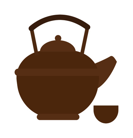 electric tea kettle: Kettle drink and handle kettle. Kettle electric, appliance hot boil domestic kettle icon. Flat appliance hot kettle electric equipment. Stovetop whistling kettle kitchen teapot flat vector.