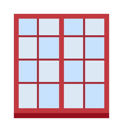 sill: Different types house windows vector elements isolated on white background. Windows elements flat vector style. Vector windows frames. Windows icons on white, Window frame isolated