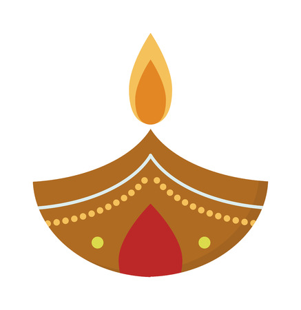 religious celebration: Vector illustration traditional celebration happy diwali candle festival lamp celebration decoration. Diwali candle decoration and traditional diwali candle. Hindu religious culture diwali symbol.