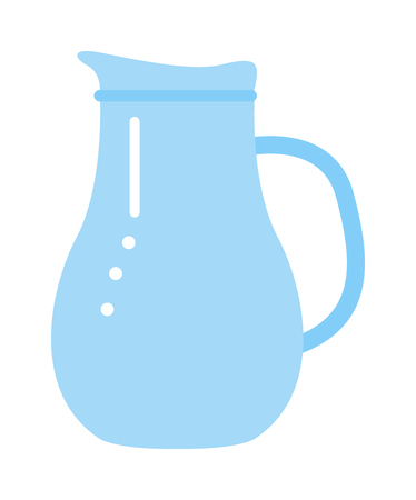 water jug: Vector jug blue isolated on white. Jug water or milk isolated. Jug vector silhouette. Jug full or empty of water
