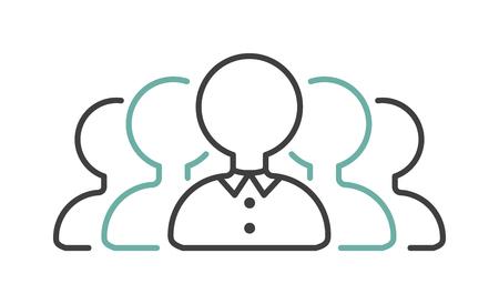 negociacion: socio de negocios negociaciones Goup icono de símbolo acuerdo de equipo de vector. Las negociaciones icono icono de trabajo en equipo y socio de las negociaciones de cooperación. Compañía icono de negociaciones de gestión.