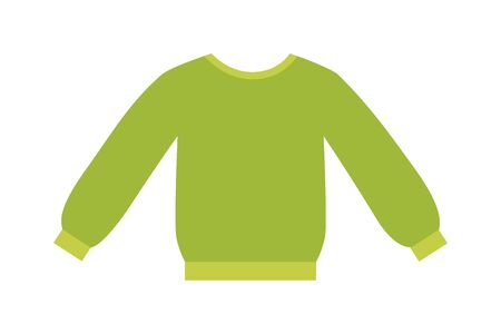 womans clothing: Glamour green girls blouse vector design. Elegant cotton blouse with long classic sleeves. White womans fashion female shirt with long sleeves glamour clothing style vector illustration. blouse Illustration