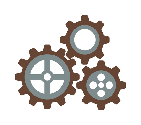 gear icon: Cogwheel machinery and development gear icon mechanical technology wheel machine vector. Machinery gear icon and mechanical technology gear icon. Gear icon engineering element equipment.
