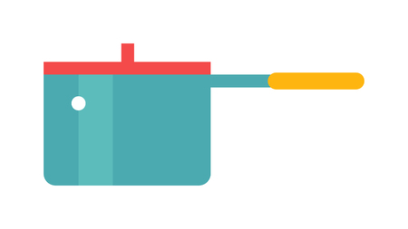preparing food: Cartoon pan cooking steel home kitchen equipment pot vector illustration. Cooking pan cartoon and food preparing handle metal pan cartoon. Kitchenware pan cartoon restaurant preparing food.