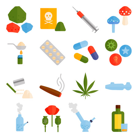 overdose: Different tablets pills capsule heap mix therapy drugs doctor flu antibiotic pharmacy vector set. Drugs medicine pills and medical drugs set. Medicine addiction pill drugs prescription. Illustration