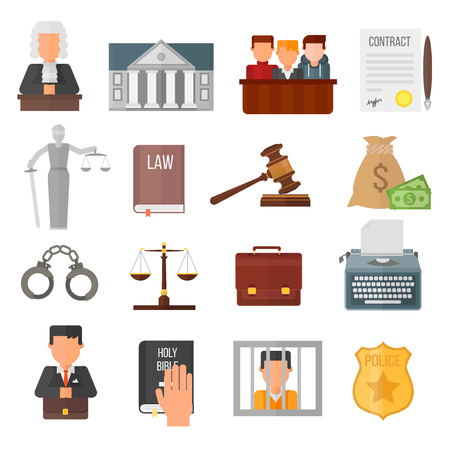 legislation: Law justice legal court lawyer judgment judge gavel symbol vector. Courtroom law justice and balance verdict law justice. Attorney legislation courthouse punishment concept judgement.
