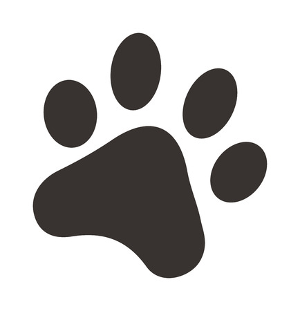 black foot: Black footprints of dogs foot silhouette vector illustration. Dog foot silhouette and animal pet dog foot. Dog foot animal pet and print dog foot. Silhouette graphic puppy cartoon trace dog foot.