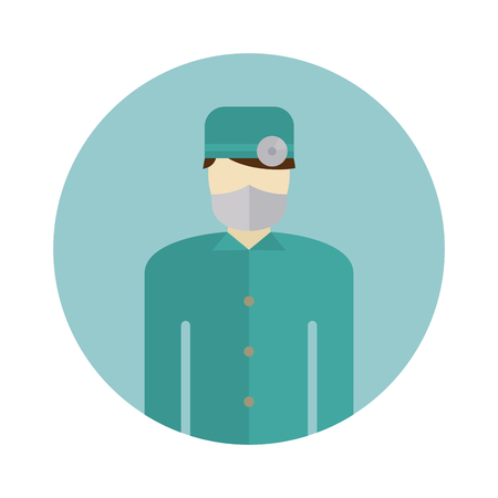 surgeon mask: Medical doctor silhouette icon nurse or surgeon wearing scrubs with mask on face vector. Doctor silhouette icon and medical hospital doctor silhouette. Physician surgeon profession doctor silhouette.