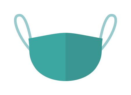 akcesoria medyczne lekarze oddech maska medycyna opieki szpitalnej zdrowia sprzętu chirurgicznego ikona wektor. maski chirurgiczne lekarza i maskę jednolite Pielęgniarka lekarza. Maska Ochrony niebieski lekarza. Ilustracje wektorowe
