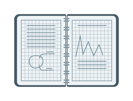 mathematical proof: Mathematical drawing notebook vector with figures and equations, school education. School mathematics drawing and education mathematics drawing. Notebook mathematics drawing geometry vector sketch. Illustration