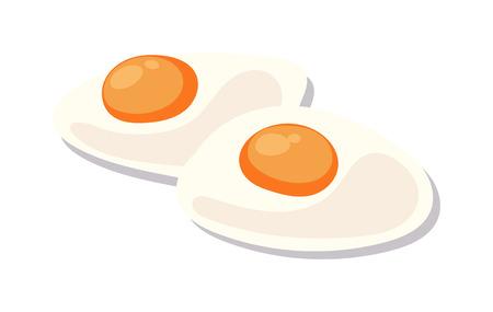huevos revueltos: Revueltos plato de huevos en el fondo blanco almuerzo mañana apetitoso cocinado vector de ingredientes. fresco huevos revueltos y huevos revueltos deliciosa cocina plato. Huevos revueltos ingrediente apetecible.