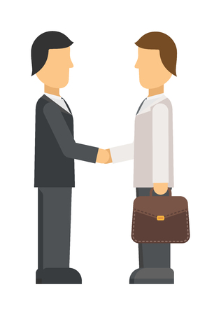 listening to people: Interview panel listening to applicant in office business job people young occupation employee vector character. Interview recruitment procedure in corporation office. Interview people meeting.