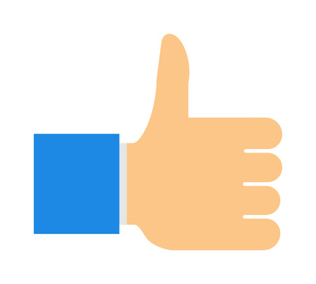finger up: Like hand finger up sign thumb icon symbol success community line art vector. Finger up like hand icon and approve like hand icon. Good concept like hand communication networking super gesture. Illustration