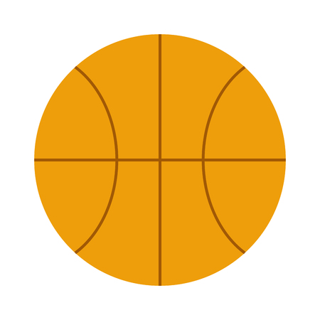 sport equipment: Activity leisure basketball ball and sport basketball ball symbol. Team game basketball ball. Orange basketball ball sport equipment competition sphere play game symbol flat vector illustration. Illustration