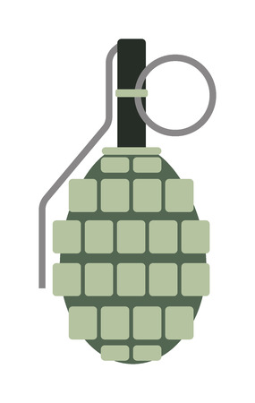 violent: Grenade explosive bomb military and grenade army weapon. Soldier combat grenade gun. Grenade metal armed attack explode. Destruction steel bomb equipment. Hand grenade bomb explosion weapons vector. Illustration
