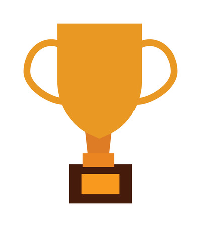 gold cup: Gold cup trophy vector illustration. Gold cup achievement success golden award and champion object gold cup. Gold cup ceremony game goblet. Metal best shiny prize cup. Trophy victory achievement.