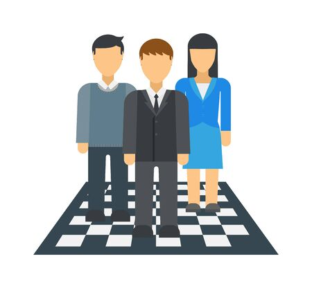 businessteam: Large business dream team isolated over white background people group teamwork vector. Team dream people group teamwork and team dream. Businessman manager team dream. Friendly business dream concept.