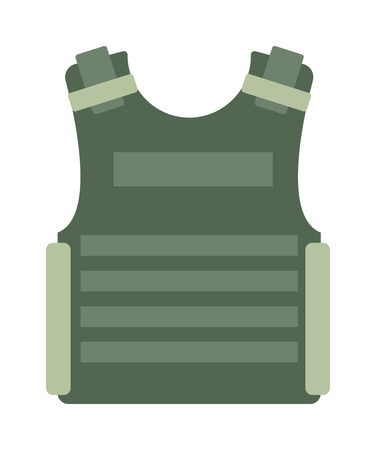 Bulletproof vest and waist belt, body armor covers camouflage light brown equipment vector. Bulletproof vest equipment and army clothing waistcoat bulletproof vest. Armor police bulletproof vest.