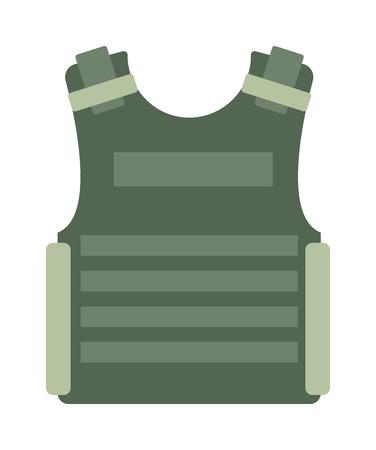 Kugelsichere Weste und Taillengürtel, Körperpanzer bedeckt Tarnung hellbraun Ausrüstung Vektor. Kugelsichere Weste Ausrüstung und Armee Kleidung Weste Panzerweste. Rüstung Polizei Schutzweste.