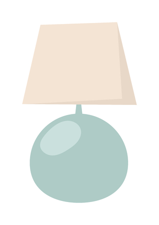 night table: Vintage table lamp isolated on white. Table lamp isolated home interior design and electric furniture table lamp. Table lamp night room equipment and desk retro classic table lamp. Illustration