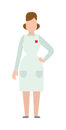 doctor isolated: Woman doctor people young female girl doctor silhouette. Doctor woman silhouette stay. Doctor girl silhouette. Flat doctor woman abstartc silhouette. Woman medic staff, girl doctor isolated