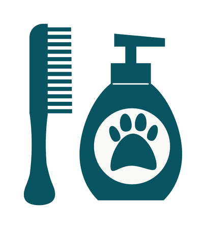 grooming: Pet dog shampoo flat icon grooming health bathtub hygiene vector. Dog hygiene shampoo grooming health tub and bathtub dog hygiene shower. Dog hygiene grooming, shampoo bubble hygiene wash tub. Illustration