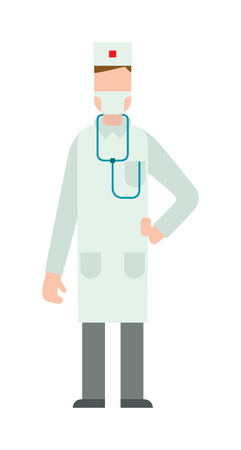 practitioner: Doctor silhouette vector illustration. Doctor silhouette with medical stethoscope and doctor silhouette health specialist. Doctor silhouette professional hospital people. Man surgeon practitioner coat