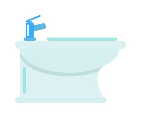 luxury apartment: Luxury bathroom water closet bidet. Bidet bathroom toilet interior and white bidet design symbol. Domestic bidet contemporary, modern luxury bidet. Domestic apartment hygiene water bidet.