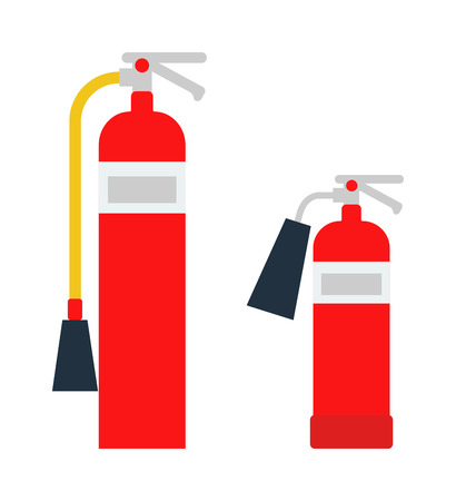 fire extinguishers: Red fire extinguisher isolated. Fire extinguishers safety red equipment and isolated danger protection emergency fire extinguishers isolated. Firefighter container fire extinguishers isolated tool.