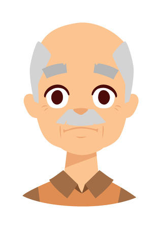 wrinkled face: Old wrinkled man against white background. Sadness grandpa face vector and sadness grandpa face pensioner people. Sadness grandpa face senior grandfather people elderly wrinkles aging human. Illustration