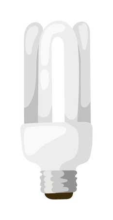 led lamp: LED energy saving bulb. Electric lamp isolated on white background. LED lamp isolated vector electric technology and bright LED lamp isolated. LED lamp isolated object and LED lamp isolated. Illustration