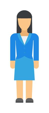 full figure: Vector business woman black silhouette walk step forward full length over white background. Business woman silhouette vector and design body group work business woman silhouette figure pose success. Illustration