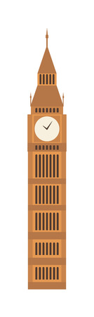 historic building: Old watch tower travel and architecture watch tower.Tourism history view building watch tower and watch tower europe outdoor landmark. Watch tower historic structure wall hill monument with clock. Illustration