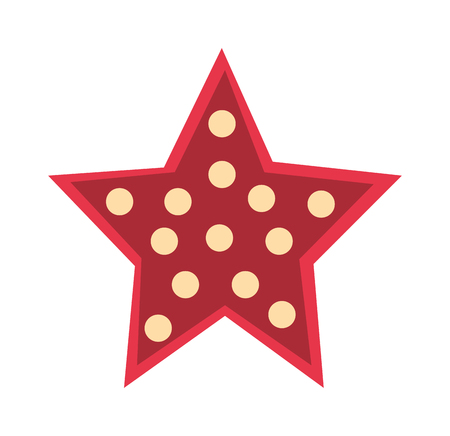 red star: Red crystal star isolated on white background. Red star with bubbles and red star decoration design. Abstract design red star and award celebration red star color object. Red star decorative emblem. Illustration
