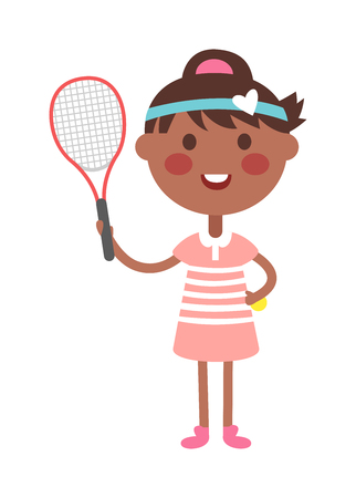 girl tennis: Full length portrait of young woman playing tennis field. Healthy lifestyle tennis player girl isolated and tennis player young girl. Tennis player girl character and sport tennis player girl.