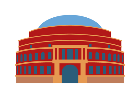 art museum: Theater building vector illustration. City house urban theater building and university museum theater building. Theater building culture collection government art design. Exterior art construction.