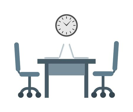 job deadline: Hard working always on time to work. Time to work vector concept and businessman deadline hour time to work. Time to work office job and worker watch professional work place success management.