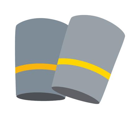 brand new: Brand new grey pair of sport socks. Sport socks textile fashion and clean color cute pair sport socks. Garment stylish trendy sport socks, style apparel heat cloth footwear sportswear. Illustration