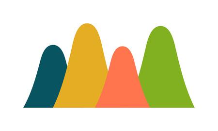simbolo suono delle onde e illustrazione vettoriale grafico di onda. Ondata di grafo linea di frequenza e la forma d'onda della tecnologia grafico di onda. Suono Equalizzatore grafico astratto onda audio e al volume digital design grafico dell'onda. Vettoriali