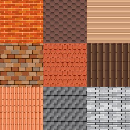 클래식 불교 사원의 지붕 타일의 집합입니다. 지붕 타일 텍스처 및 세부 지붕 질감 소재. 지붕 타일 외관 건축 및 지붕 텍스처 아키텍처 패턴 배경 반복
