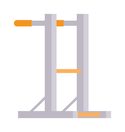 wall bars: Gymnastics wall bars. Gymnastics ladder with horizontal bar. Sport equipment gymnastics wall bars. Vector illustration for sports clubs and gyms gymnastics wall bars activity train athletic recreation.