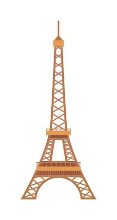 historic building: Eiffel Tower, Paris eiffel tower. France eiffel tower vector. Eiffel tower europe landmark architecture travel and tourism monument eiffel tower. Famous construction structure eiffel tower.