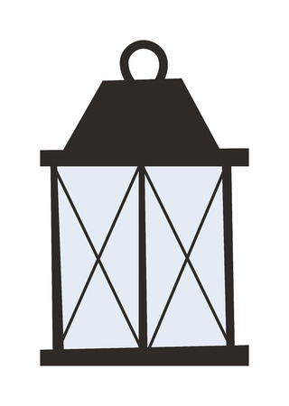 old fashioned: Street light posts and outdoor elements for construction of landscapes. Vector flat illustration street light and street light night road pillar ancient old fashioned lamp. City lantern lamp.