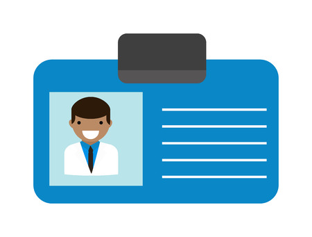 physician: Id corporate identity identifier medicine doctor id and vector doctor id card. Medical health doctor id and clinic symbol doctor id. Doctor id identification blank physician professional modern tag.