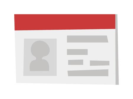 identidad personal: tarjeta de identificaci�n de la tarjeta icono de identificaci�n. tarjeta de identificaci�n de ilustraci�n vectorial y tarjeta de identificaci�n icono de identidad de la empresa. Identificaci�n icono de la tarjeta plantilla de tarjeta de identificaci�n, tarjeta de identificaci�n de pl�stico de dise�o de etiquetas. Identificaci�n de contacto personal tarjeta en blanco.