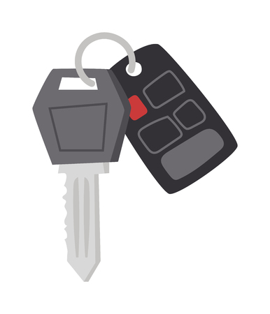 remote control: Car key with remote control and car keys vector. Car keys automobile security lock and car keys remote control alarm. Car keys transportation new unlock object, car keys wireless technology.