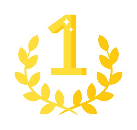 primer lugar: medalla de Premio cinta primer lugar del vector y el primer lugar premio a la cinta ganadora de la medalla. Medalla de primer lugar s�mbolo de �xito y la medalla de primer deporte del campe�n del lugar. Medalla de primer lugar trofeo emblema.
